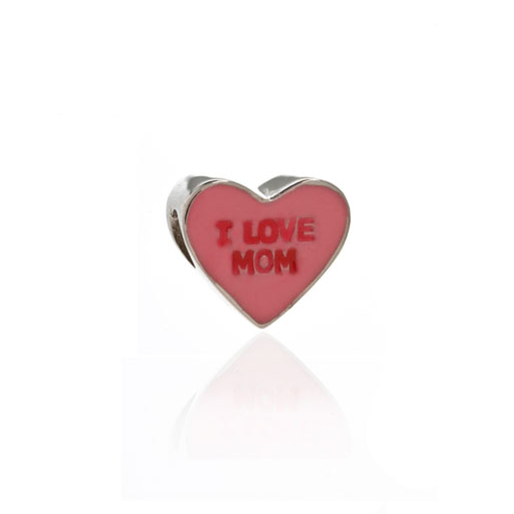 ME ME™ Pink I LOVE MOM Candy Heart Charm