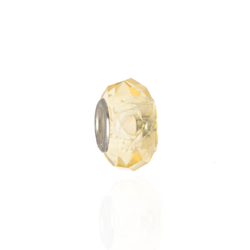 ME ME™ Light Yellow Faceted Crystal Charm