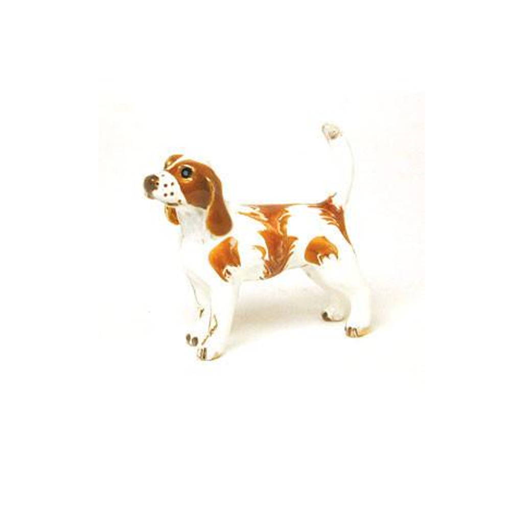 Brown/White Beagle Adorable Pooch ® Pin