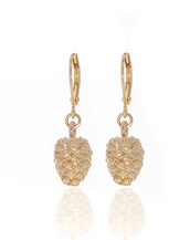 Winter in the Garden Gold Drop Earrings