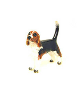 Brown/Black Beagle Adorable Pooch ® Pin