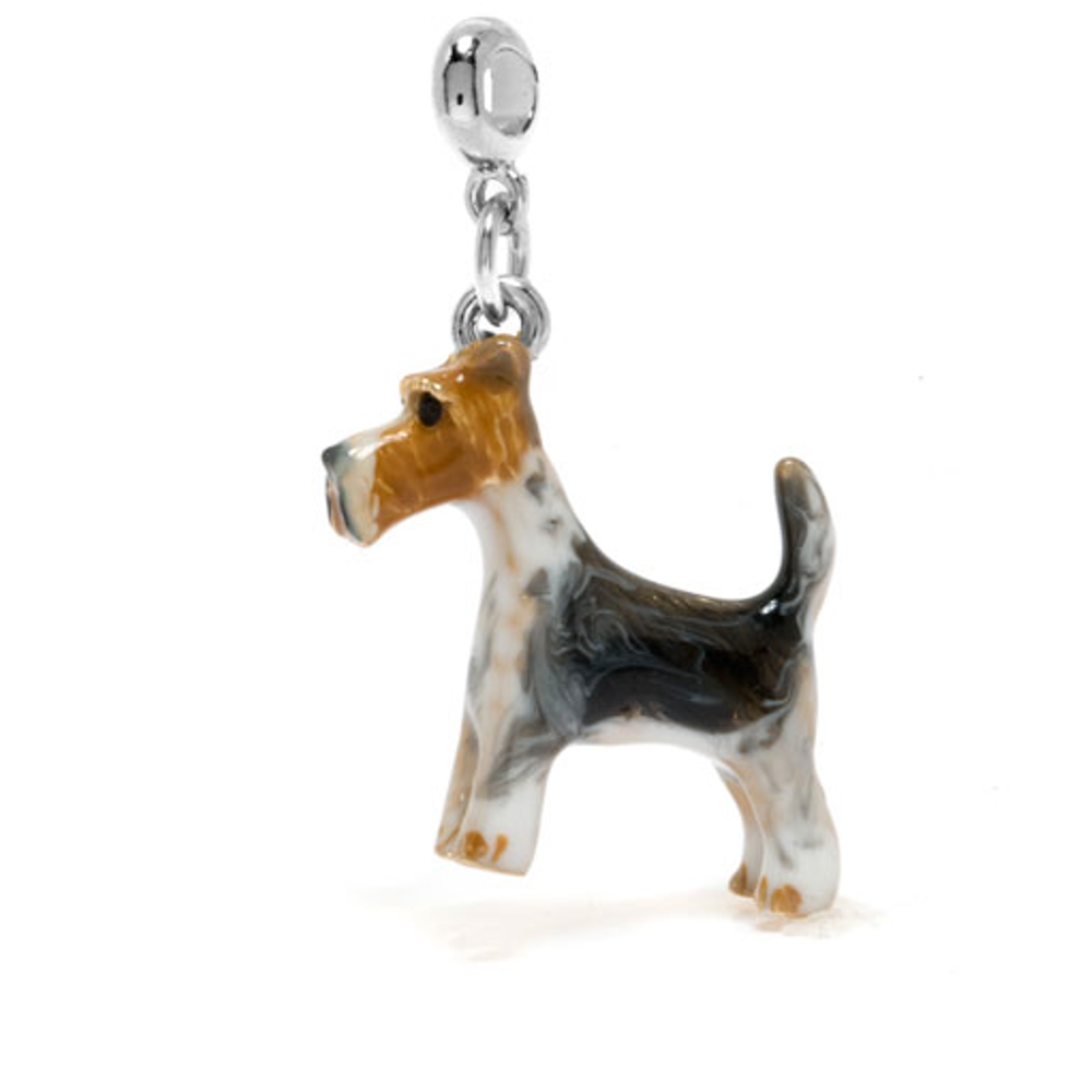 ME ME™ Silver Tone Fox Terrier Drop Charm