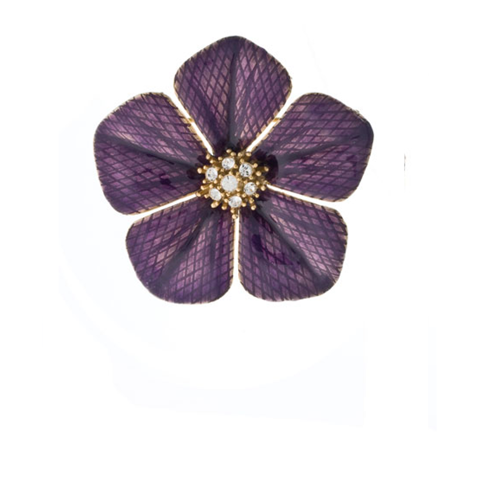 Garden of Love Amethyst Flower Pin