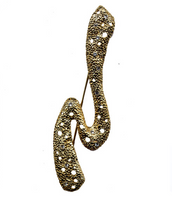 Goldtone & Crystal  Pin