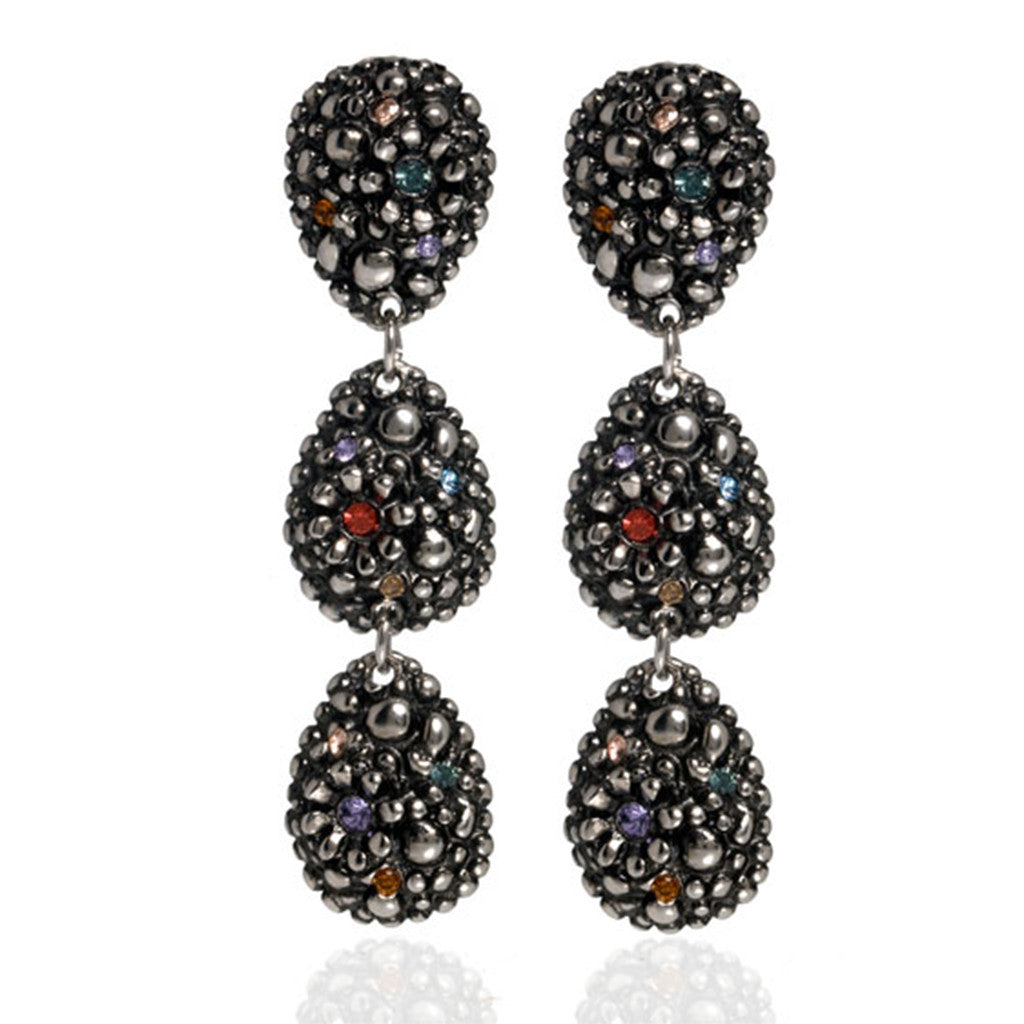 Hematite Multi Crystal Earrings
