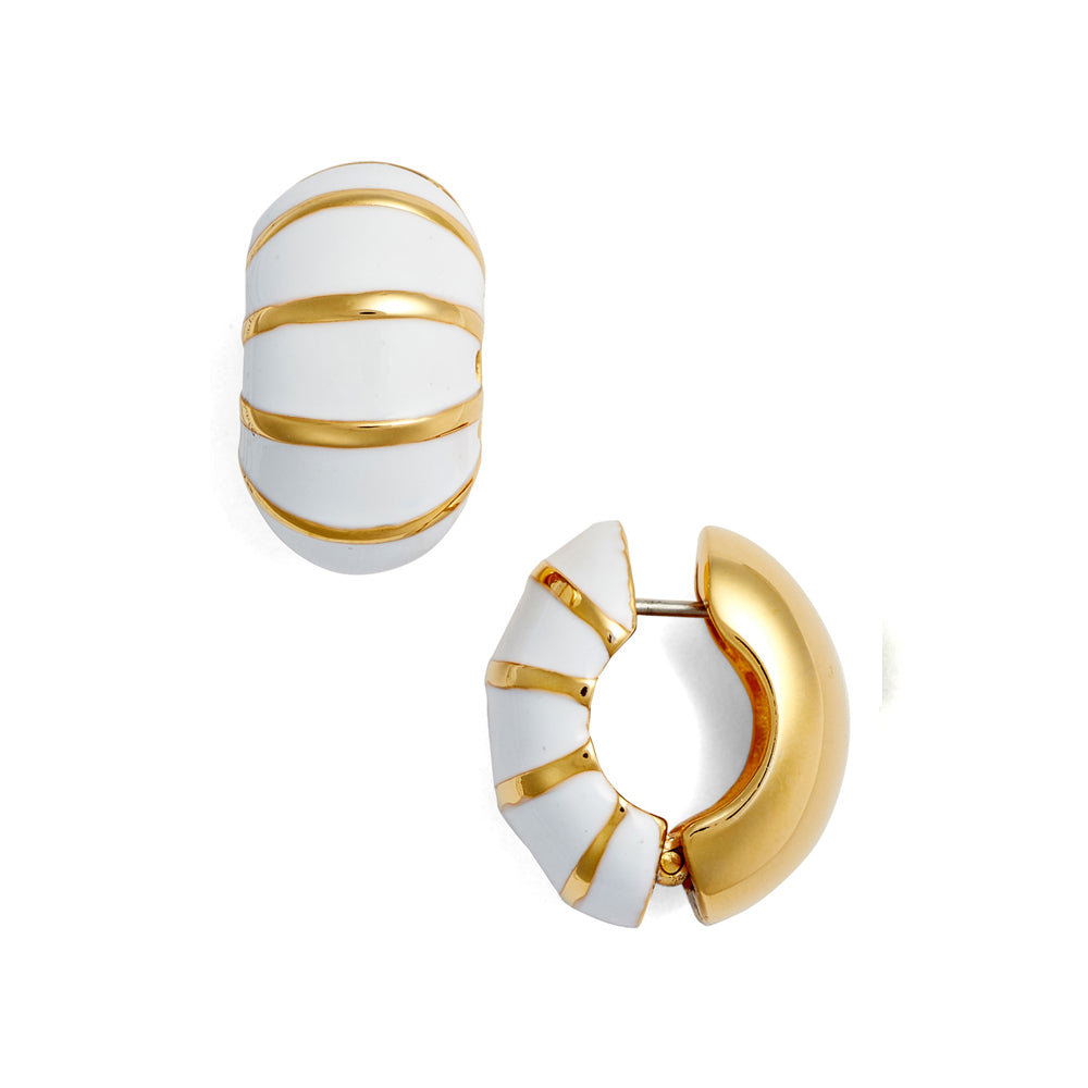 White Segmented Gold Reversible Hugs®