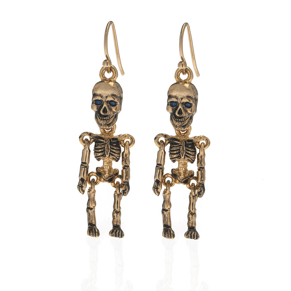 Goldtone Skeleton Earrings