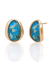 Van Gogh Goldtone Almond Blossom Button Earrings
