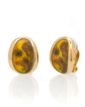 Van Gogh Goldtone Sunflower Button Earrings
