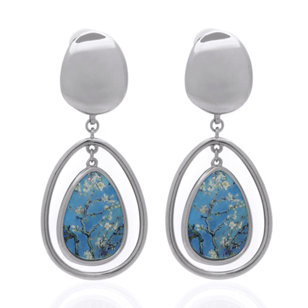 Van Gogh Almond Blossom Drop Earrings