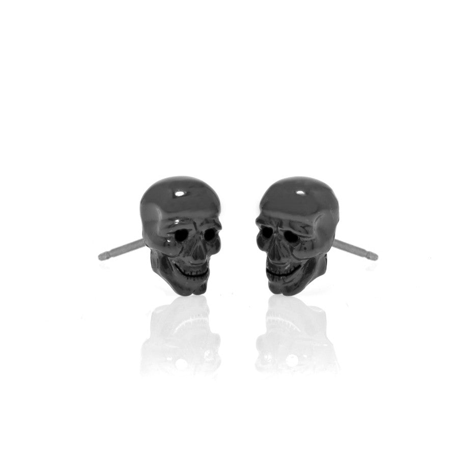 Lucky Skulls Hematite Earrings