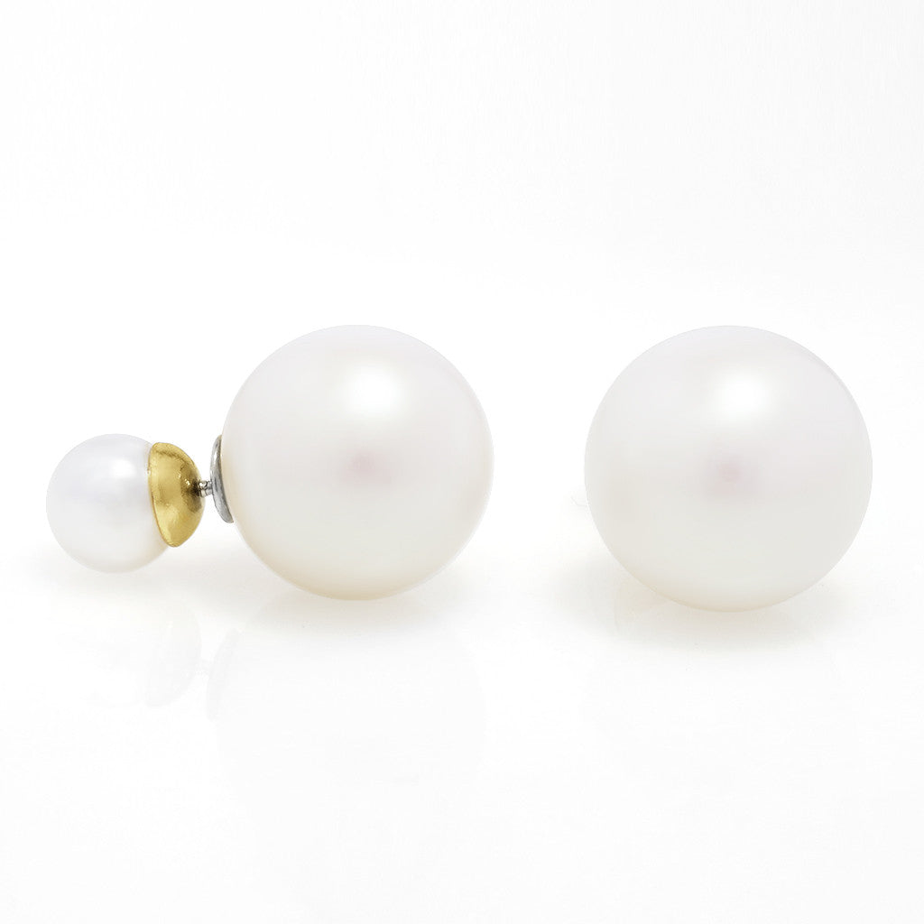 Double Bubble Kiska Pearl Earrings