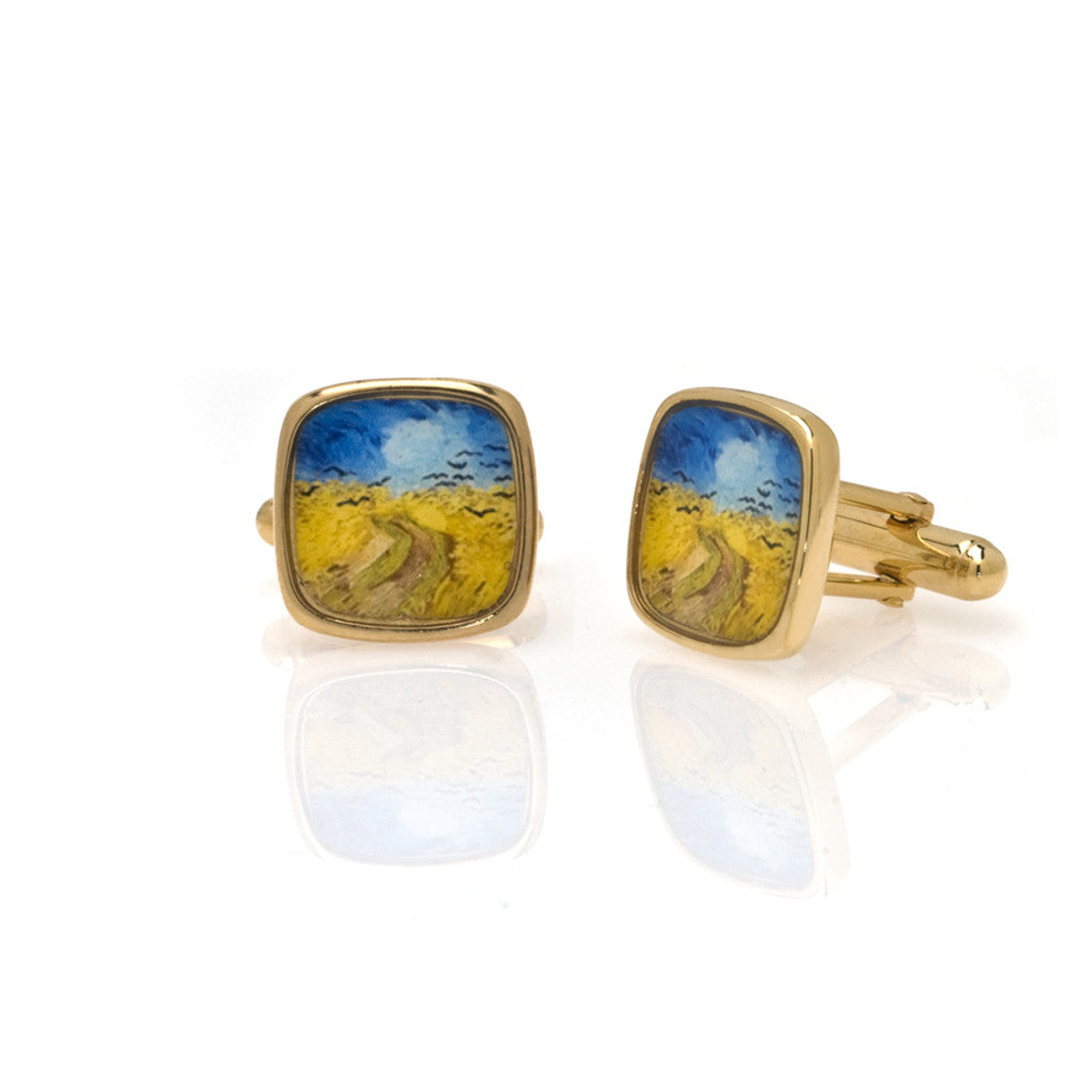 Van Gogh Wheatfield with Crows Cufflinks