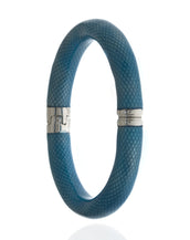 Snakeskin Robin Blue Bangle Bracelet