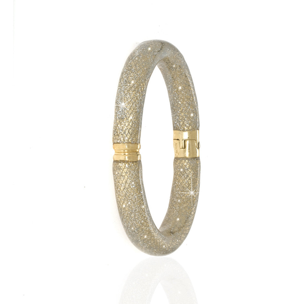 Stardust Gold Tone Snakeskin Bangle Bracelet