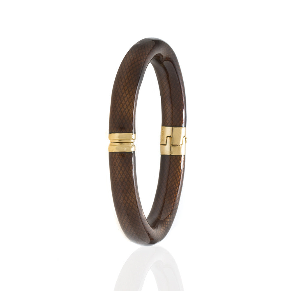 Snakeskin Brown Bangle Bracelet