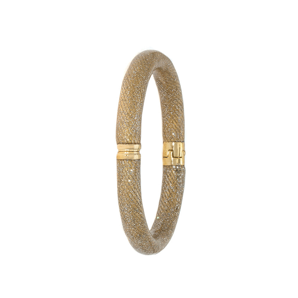 Starry Night Goldtone Snakeskin Bangle Bracelet
