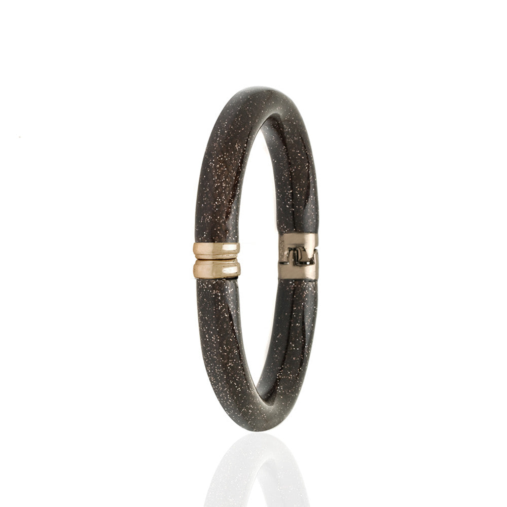 Stardust Brown Snakeskin Bangle Bracelet