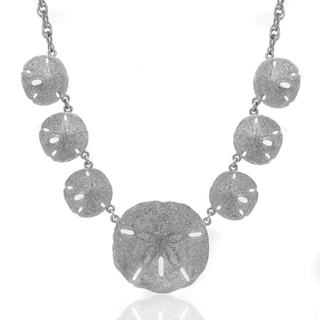 Silvertone Stardust Sand Dollar necklace