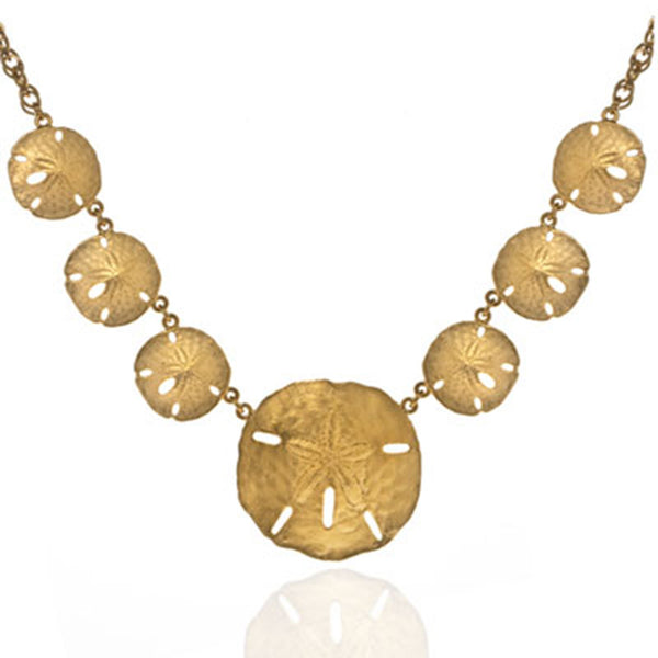 Goldtone Full Sand Dollar Necklace
