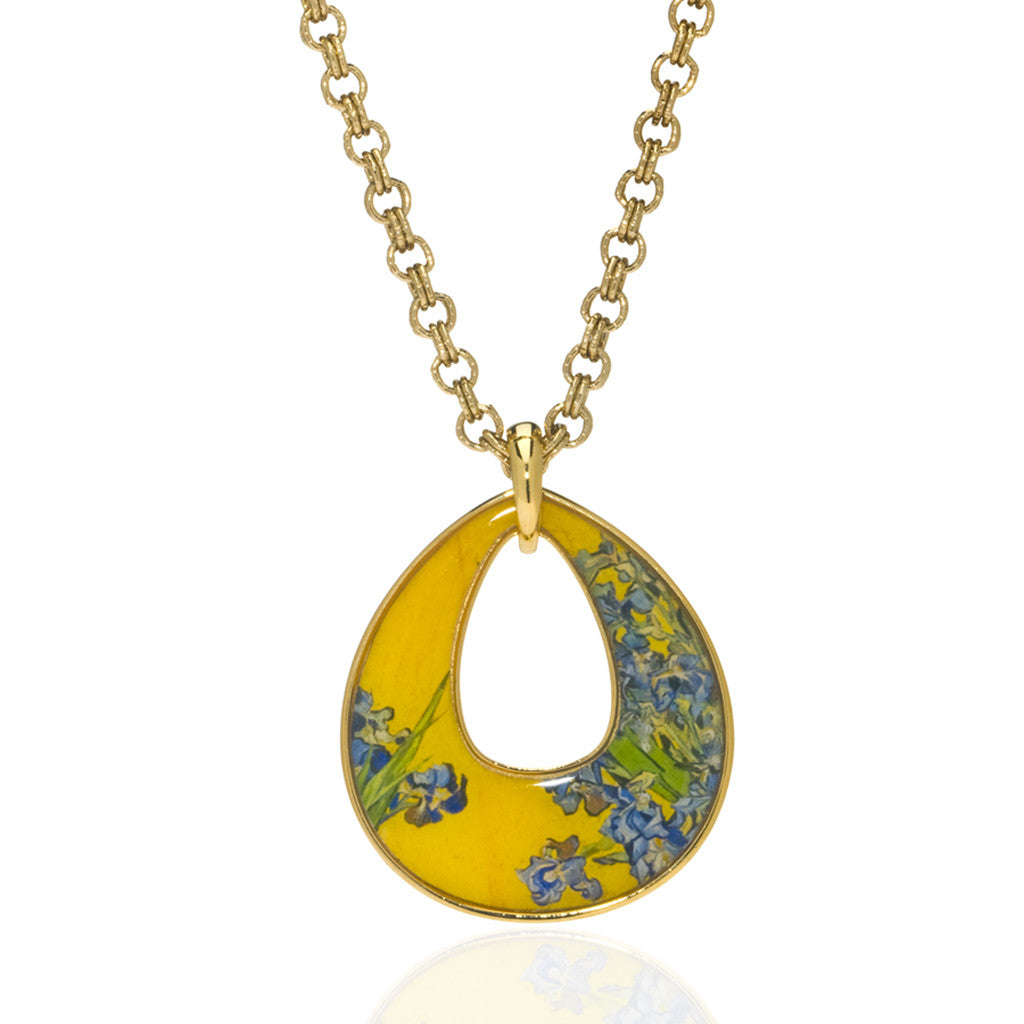 Van Gogh Goldtone Irises Necklace
