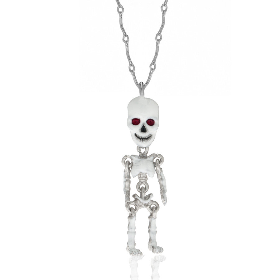 White skeleton pendant necklace erwin pearl white skeleton pendant necklace aloadofball Gallery