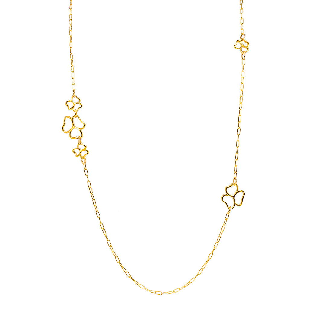 Goldtone Open Heart Necklace 30""