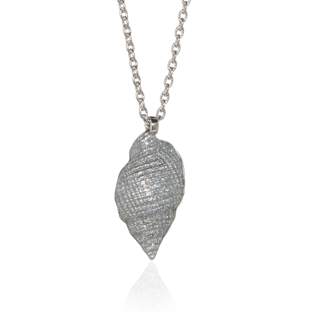 Medium Shell Necklace Silver Stardust