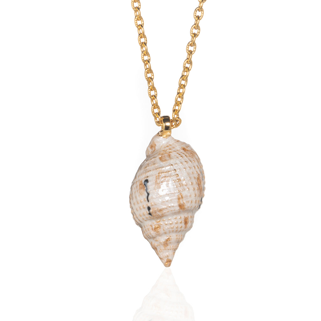 Medium Shell Necklace Beige