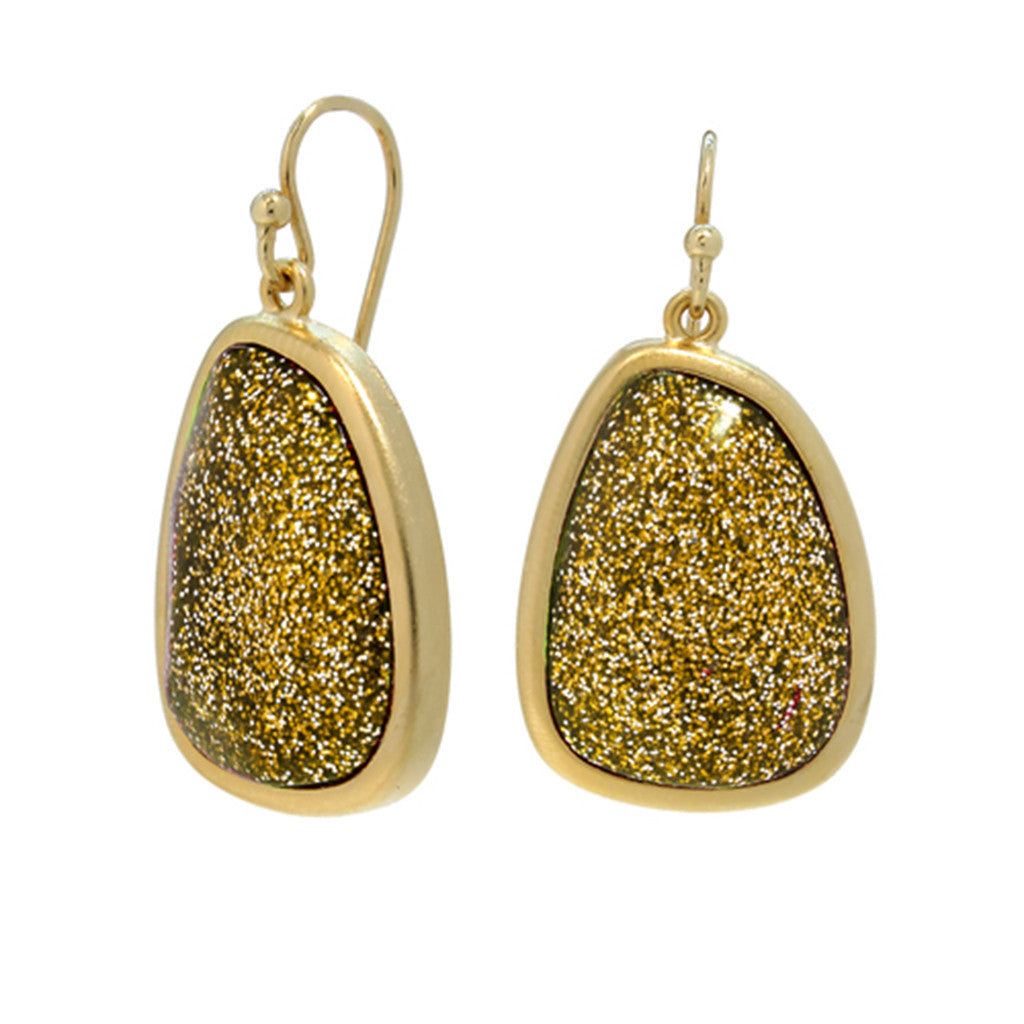Gold Tone Stardust Earrings