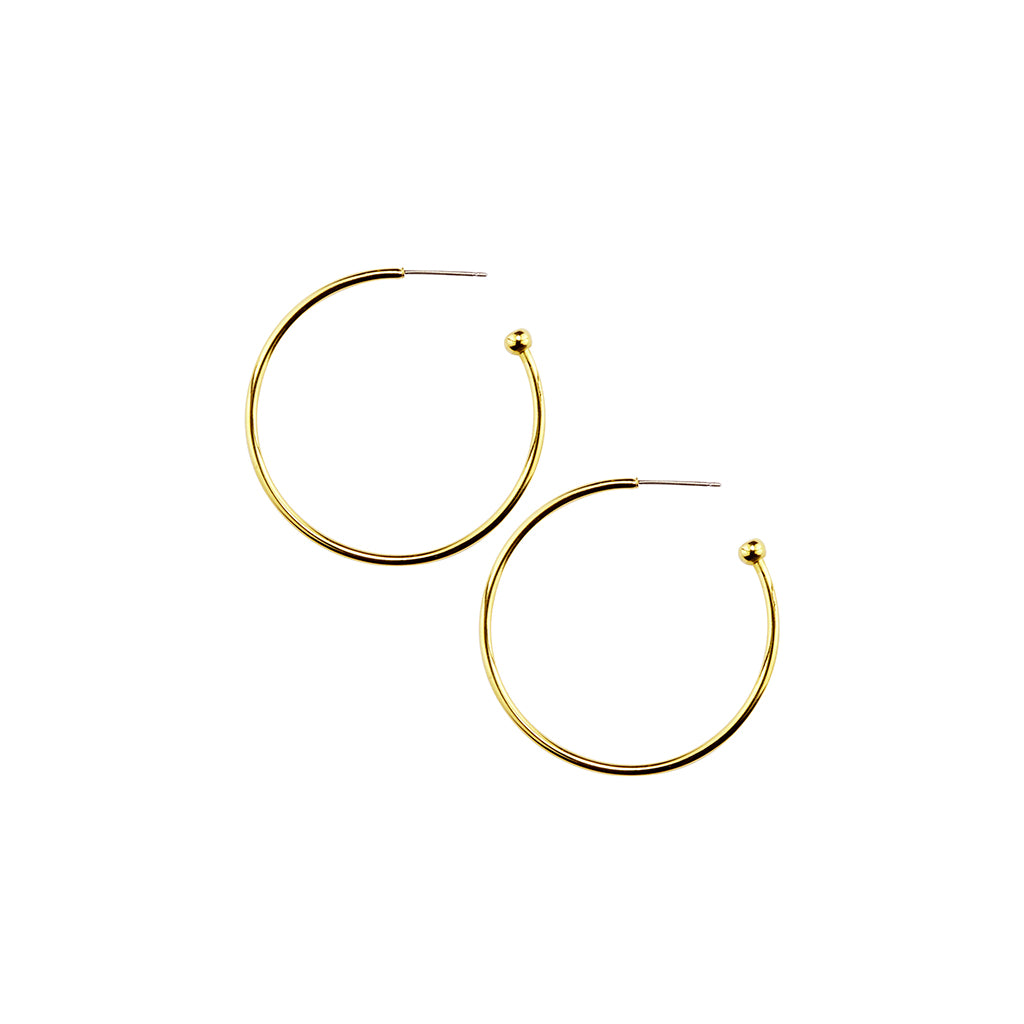 Gold Plated Hoops (Medium)