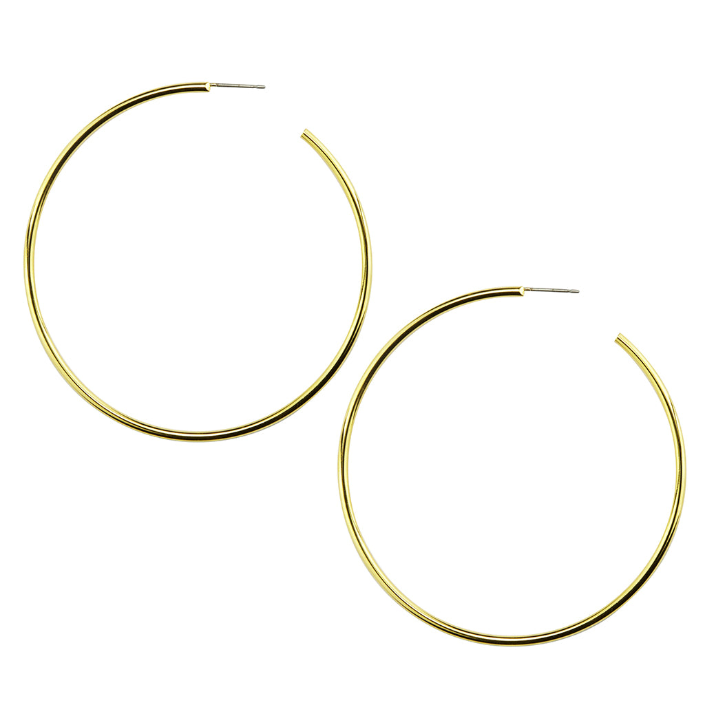 XX Large Gold Plated hoop