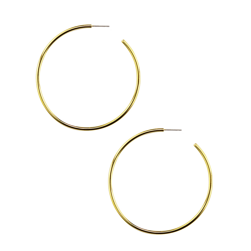 Gold Plated Endless Hoop