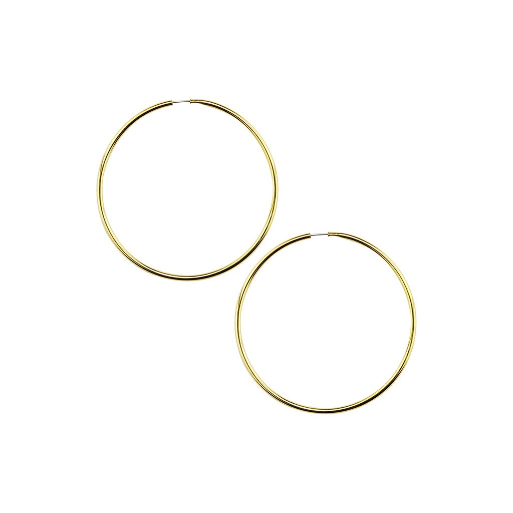 Gold Plated Endless Hoop Large