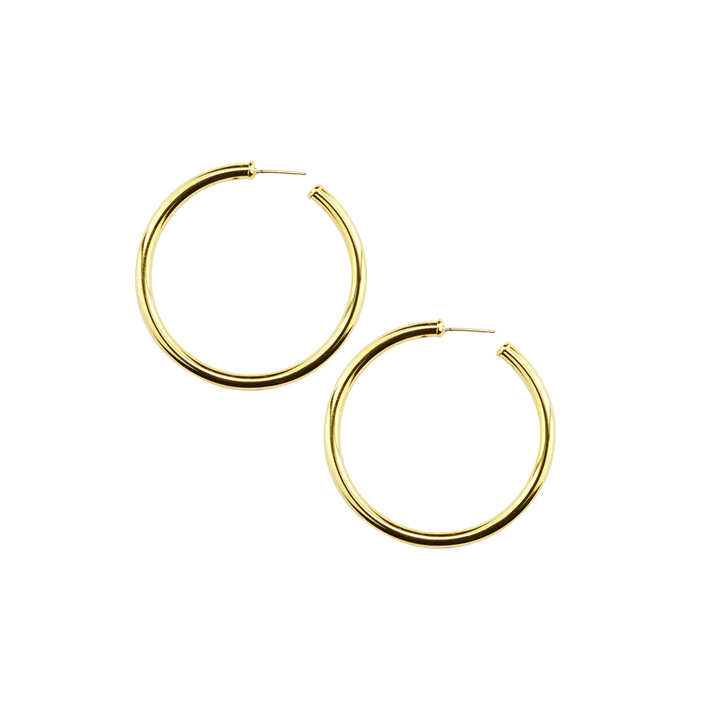Gold Plated Hoop Large