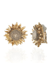 Botanica Mexicana Gold Sunflower Earrings