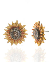 Botanica Mexicana Yellow Sunflower Earrings