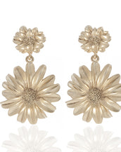 Botanica Mexicana Gold Drop Daisy Earrings