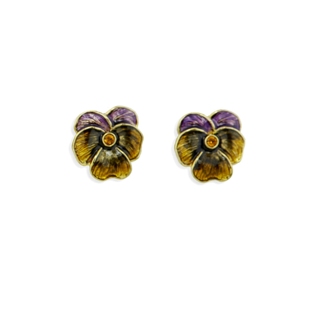 Pansy Pierced Earrings
