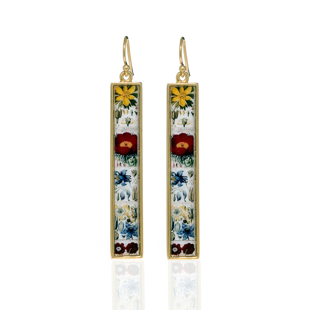 Herbarium Straight Drop Earrings