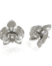 Orchid Silvertonr Earring With Pearl Pierced