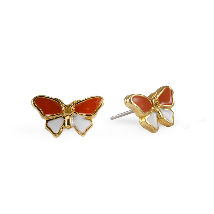 Goldtone Butterfly Stud Earrings