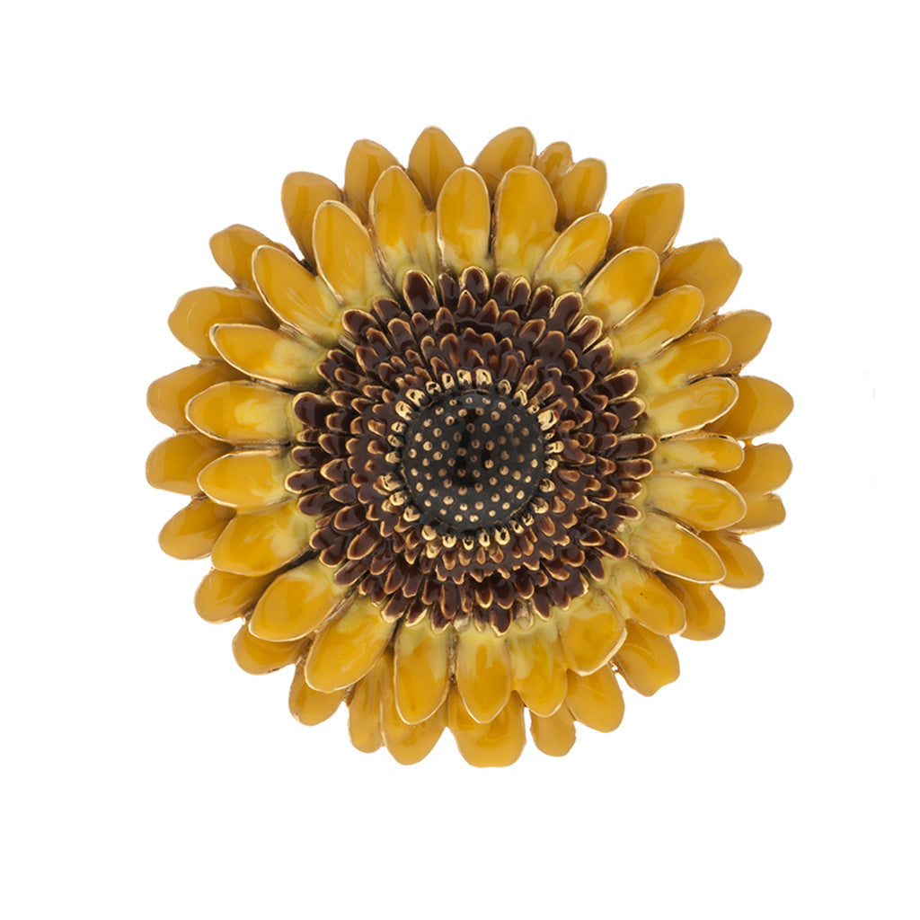 Botanica Mexicana Yellow Sunflower Pin