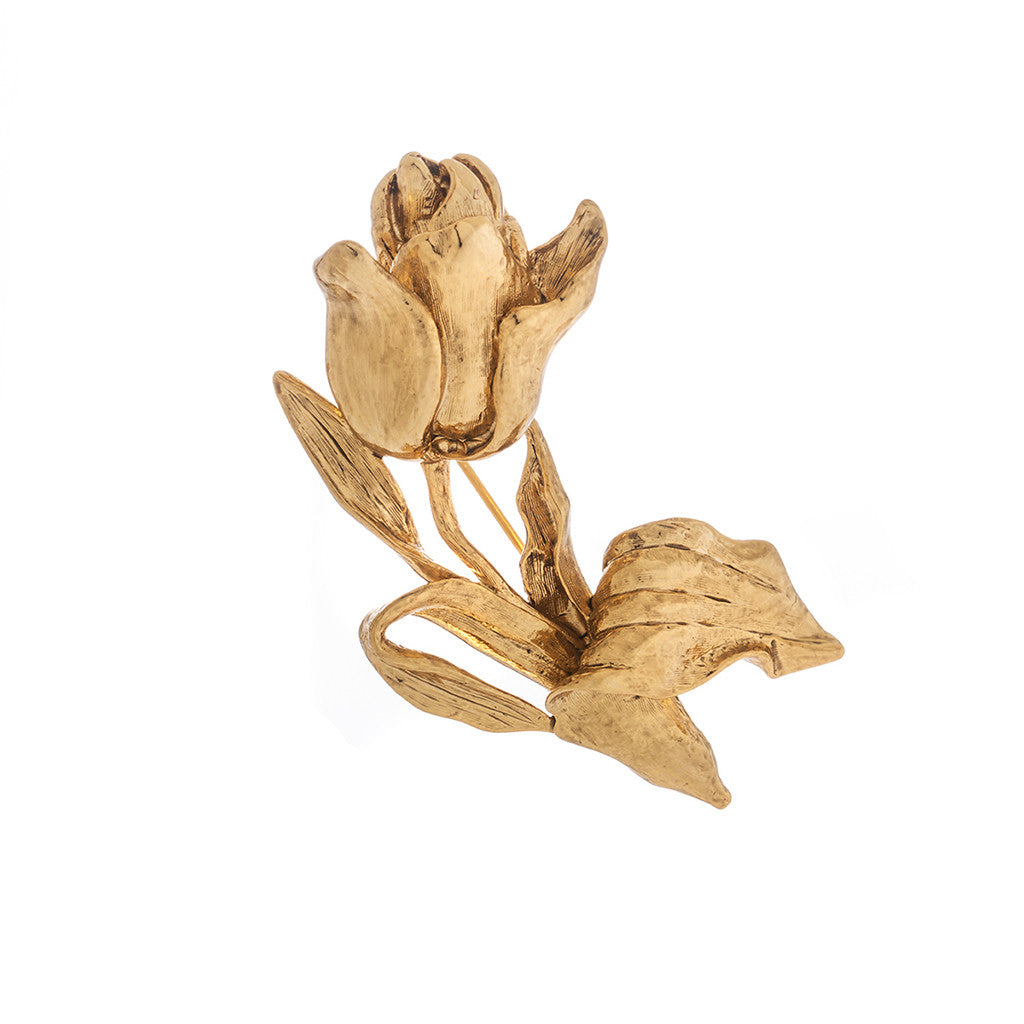 Rose Goldtone Brooch