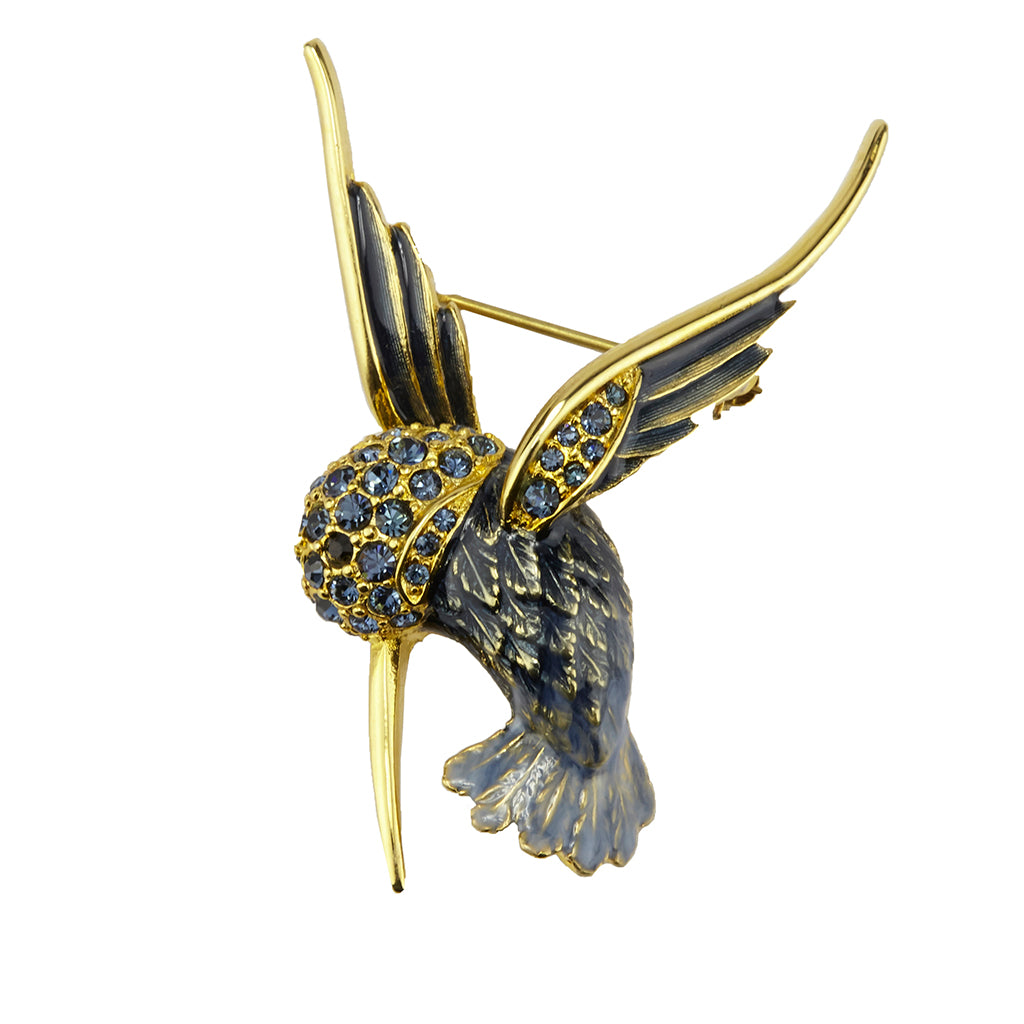 22k Gold-Plated Humming Bird Brooch