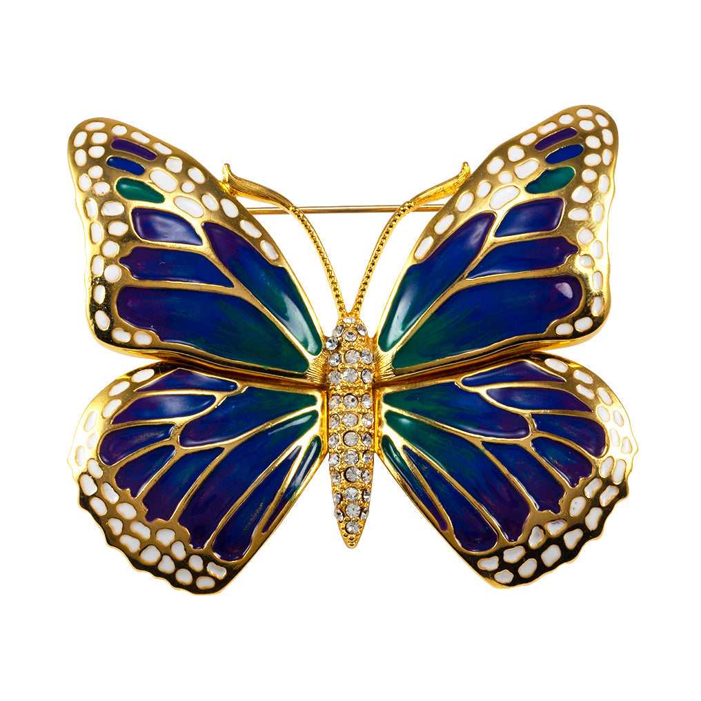 Goldtone Butterfly Large Pin