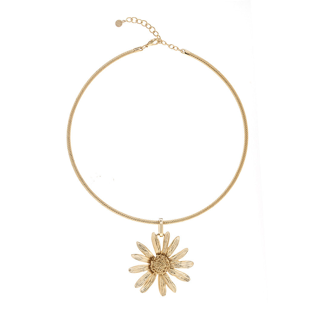 Botanica Mexicana Goldtone on Wire Necklace 16""