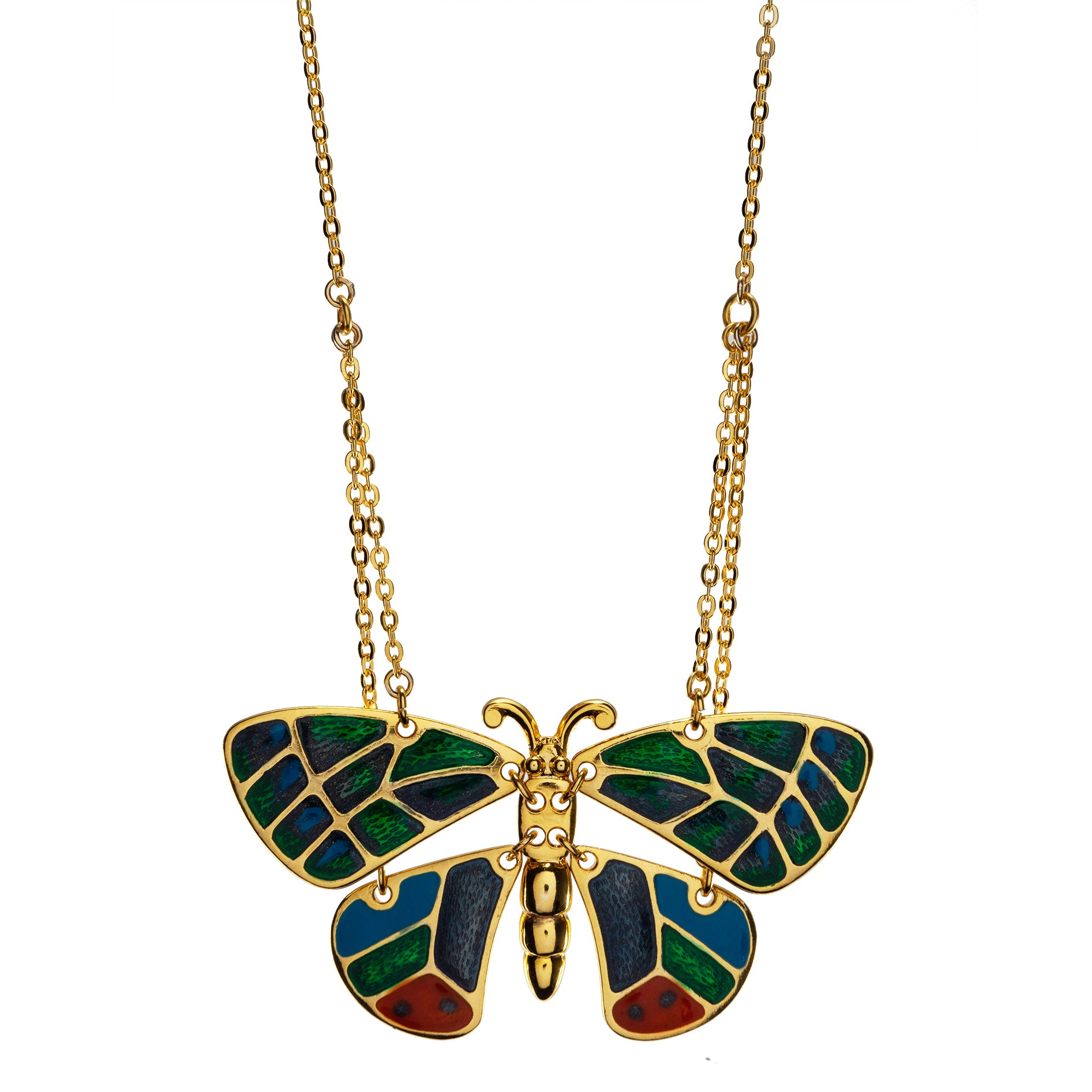 """Goldtone Butterfly Pendant with 16"""" Chain Necklace"""