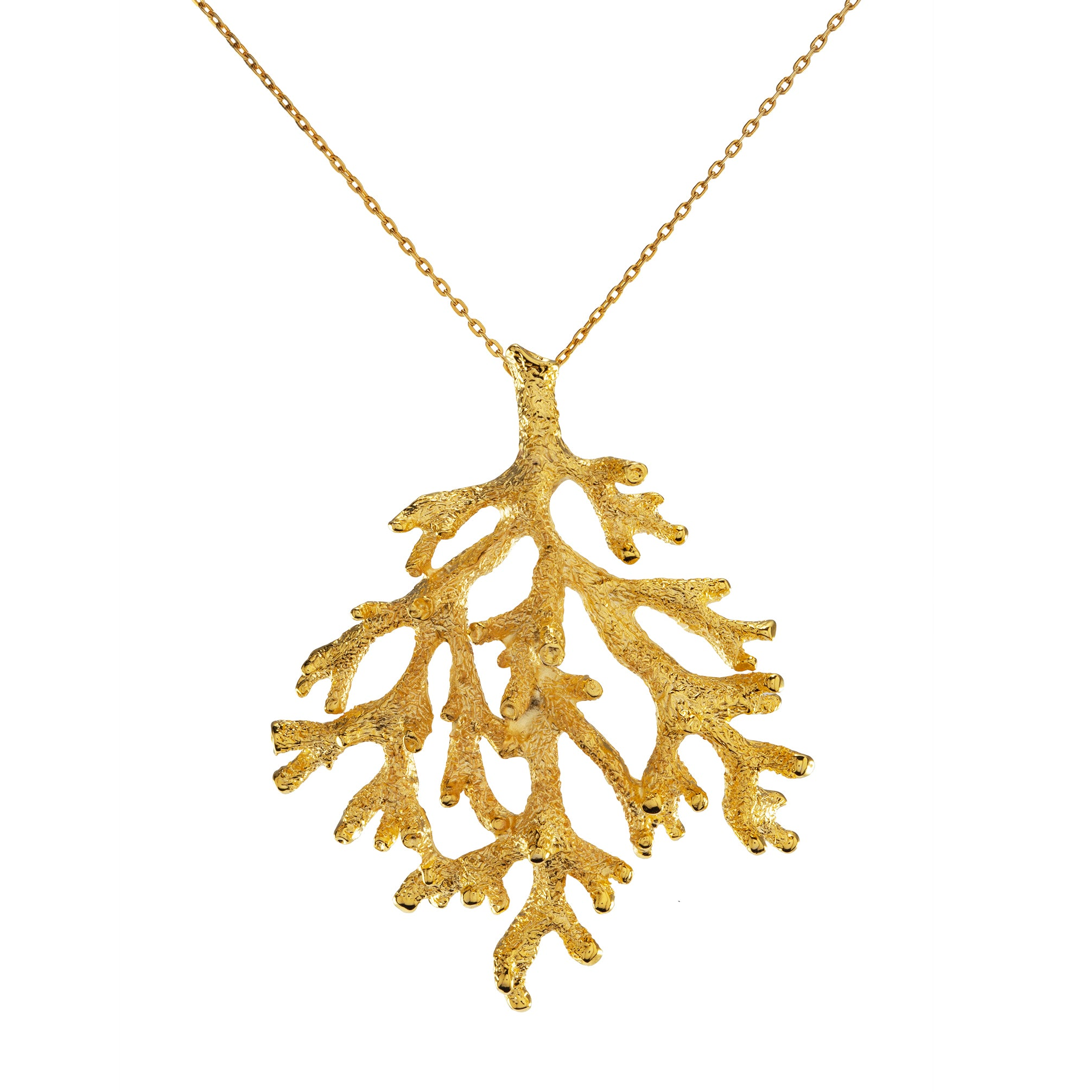 """Goldtone Branch Pendant with 28"""" Chain Necklace"""