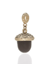 Winter in the Garden Brown Acorn Charm w Ring